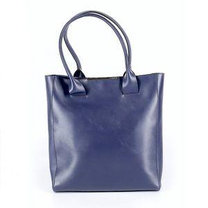 BCBGMAXAZARIA blue leather tote